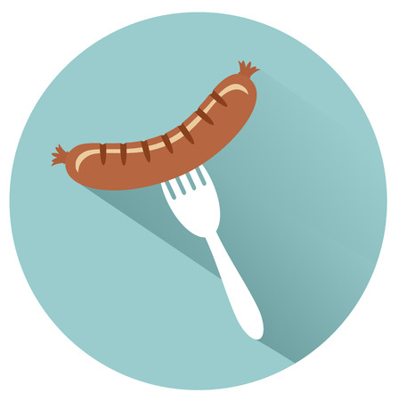 fork in path: sausage