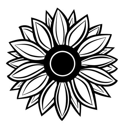 silhouette fleur: Vecteur de tournesol Illustration