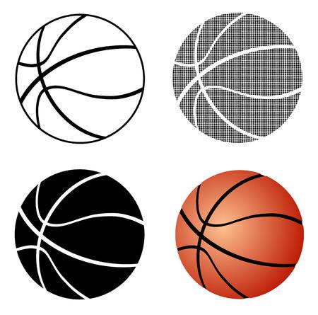 basketball ball Vettoriali