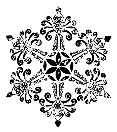 eleganz: Stern-Schneeflocke Illustration