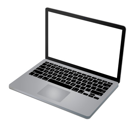laptop vector: Top view of modern laptop vector eps 10