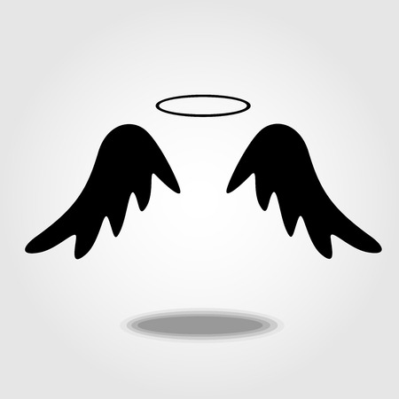 artificial wing: wings icon Illustration