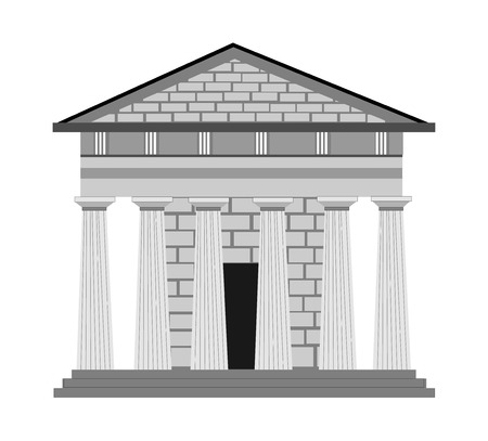 architecture: Greek style in architecture Illustration