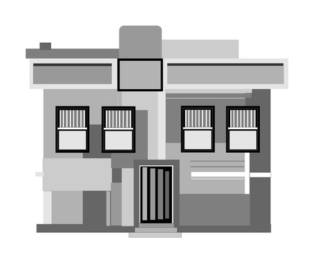 architecture: modern style in architecture Illustration