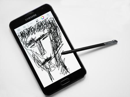 samsung galaxy: Samsung Galaxy Note N7000 with pen