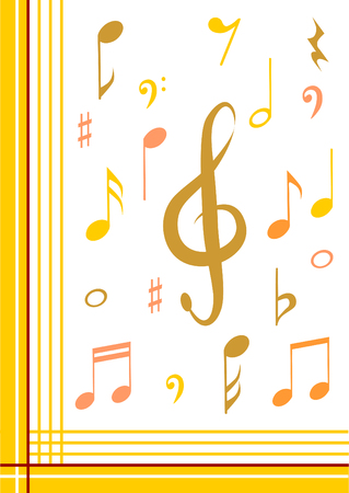 ditch: Music note background