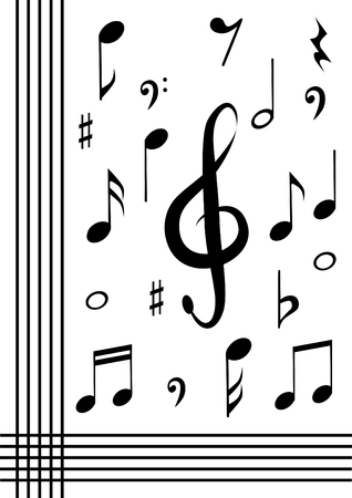 music background: Music note background
