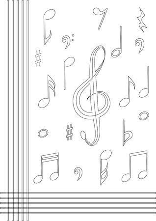 crotchets: Music note background