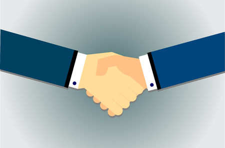 equal opportunity: Handshake in flat style vector Illustration