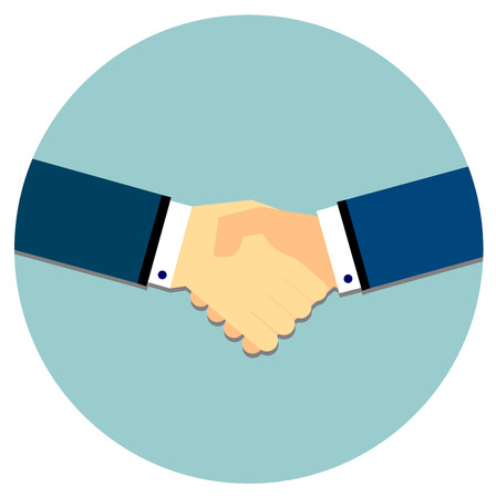 equal opportunity: Handshake in flat style
