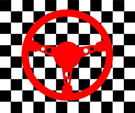 leisure activity: Racing steering wheel background