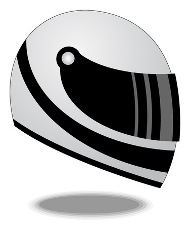 casco moto: ilustración vectorial casco Racing