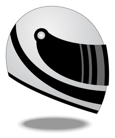 motorbike: Racing helmet vector illustration Illustration