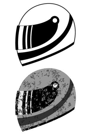 extreme sports: Racing helmet vector illustration Illustration