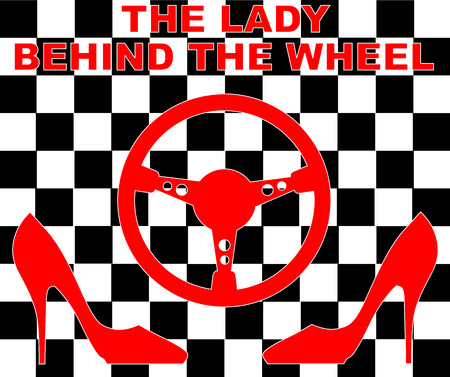 behind: The lady behind the wheel concept