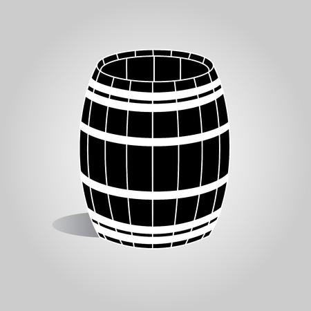 barrel: Wooden barrel icon