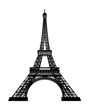 high beams: eiffel tower vector Illustration