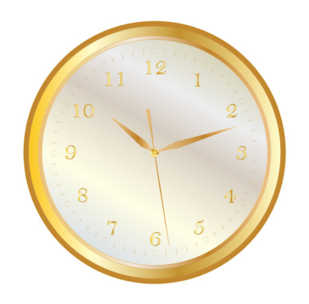 dial plate: wall clock gold