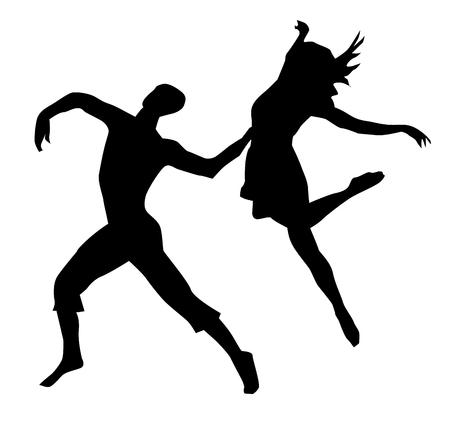 linda: Modern dancing couple Illustration