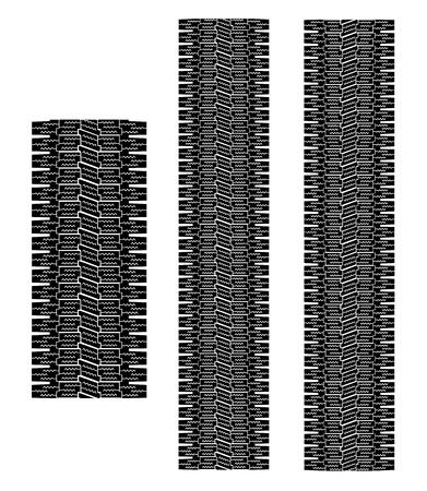 snow tires: black Tire tracks vector eps 10 Illustration