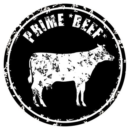 prime: Prime Beef Butcher Shop grunge stamp vector eps 10