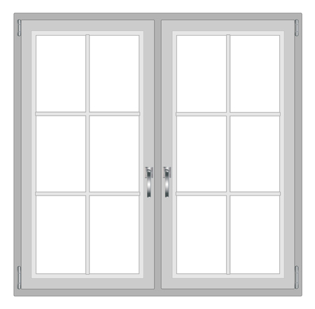 windowsill: Modern window isolated on white background, with copy space vector eps 10