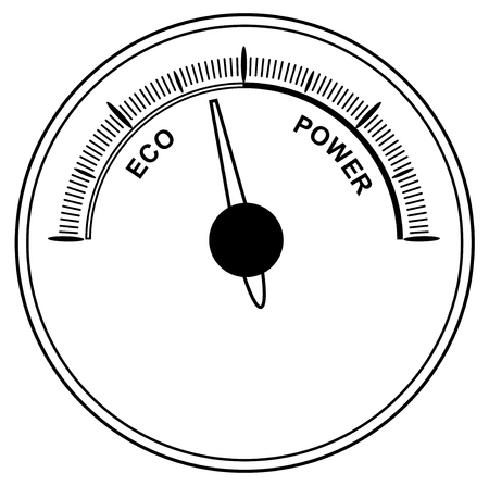 tsar: Abstract car speedometer on white background. Concept of fuel economy vector eps 10