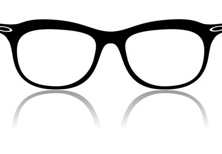 Black glasses frames vector