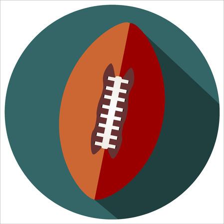 American football. Flat design icon Vector eps 10 Illustration