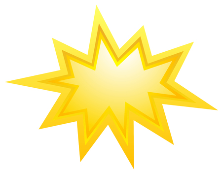 article icon: Vector bursting star illustration