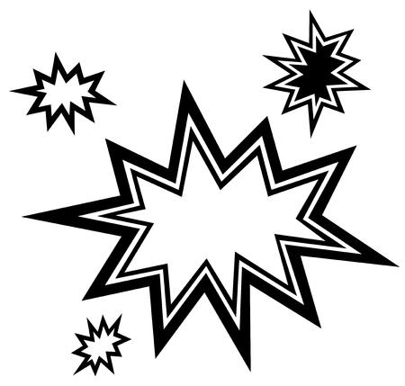 Vector bursting star illustration eps 10 Illustration