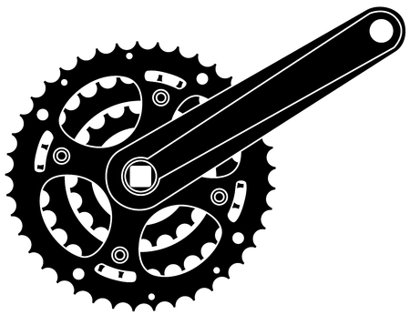 Vector bicycle cogwheel sprocket crankset symbol vector eps 10