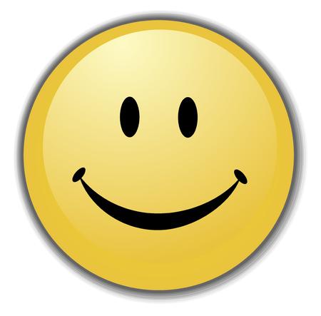Smiley Face Button, or Badge, or Icon.