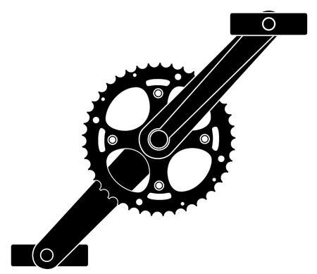Pignon roue dentée pignon crankset symbole vecteur eps 10 Vecteurs
