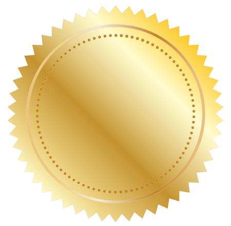 warrants: Vector illustration of gold seal eps 10 Illustration