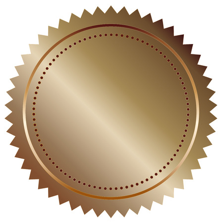 Vector illustration of bronze seal eps 10