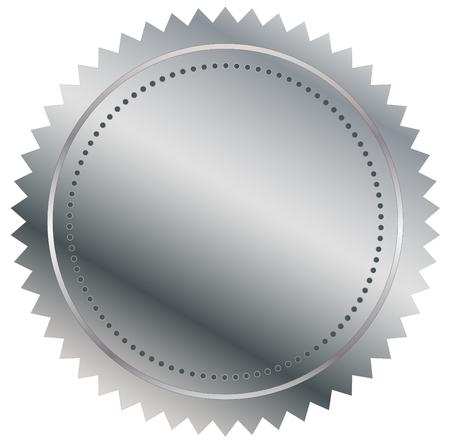signatory: Vector illustration of silver seal eps 10