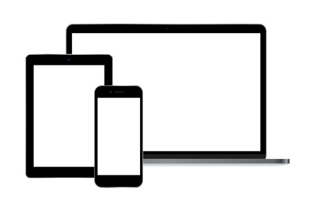 Modern laptop smartphone and tablet vector eps 10
