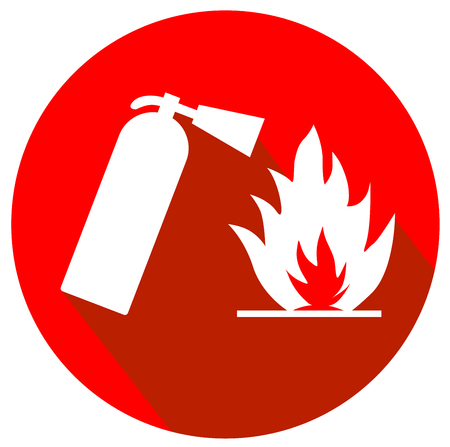 Fire safety flat design logo vector eps 10 Illustration