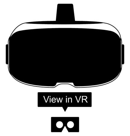 Illustration stéréoscopique 3d vr. Technologie numérique virtuelle de cyberespace virtuel. Dispositif d'innovation eps 10