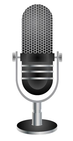 Retro microphone vector eps 10