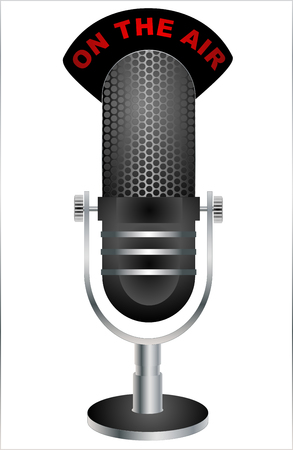 On The Air Microphone. Vector illustration eps 10 Illustration
