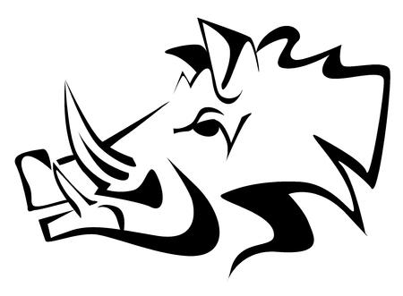 Everzwijn zwarte tekening vectoreps 10.