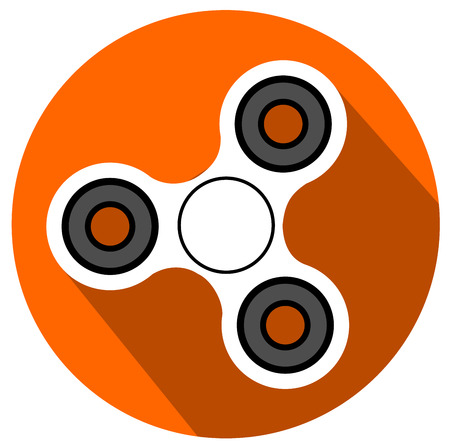 Fidget spinner stress relieving toy flat design vector eps 10