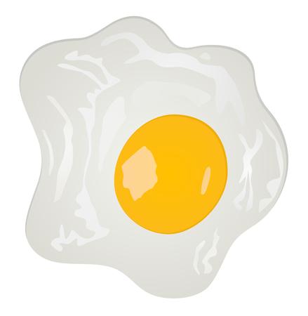 Fried eggs vector illustration eps 10.