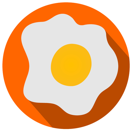 Fried eggs flat design vector illustration eps 10 Illustration