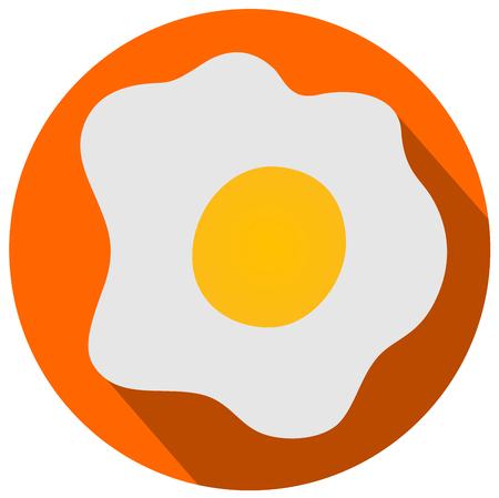 Fried eggs flat design vector illustration eps 10 Illustration