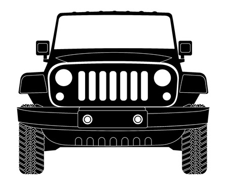 Silhouette du véhicule dans le vecteur avant