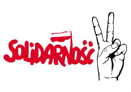 Logo della solidarietà polacca Archivio Fotografico - 81636155