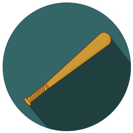 Baseball Bat. Illustration Isolated on white. Illustration